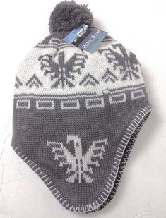88493b1fe NEW Men Women CHULLO POM BEANIE Winter Ski Knit Peruvian Hat Phoenix Aztec  Bird