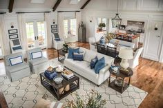 HGTV Dream Home 2015 - Connected Living Room Dining ROom and Kitchen...Large rooms can have multiple seating areas and purposes.