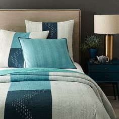 Kantha Coverlet + Shams - Sea Spray #westelm