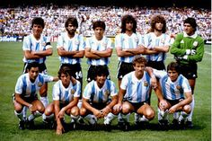 Greetings Card-Soccer - World Cup Spain 1982 - Group C - Brazil v Argentina - Sarria Stadium-Photo Greetings Card made in the USA Argentina Team, Argentina Football, Argentina National Team, 1982 World Cup, Fifa World Cup, Soccer Players, Football Team, Legends Football, Soccer Jerseys