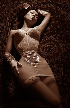 vintage girdles and nylons