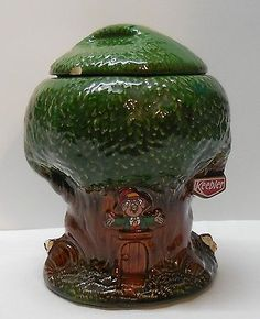 Keebler Elf Tree House Cookie Jar 1981 Keebler Co. McCoy 350 USA Vintage.