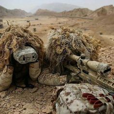 Snipers from ROK Army Special Warfare Command's Special Mission Battalion train in UAE. Military Police, Military Weapons, Usmc, Marines, Special Forces Gear, Lightroom, Ghillie Suit, Tactical Operator, Armas Ninja