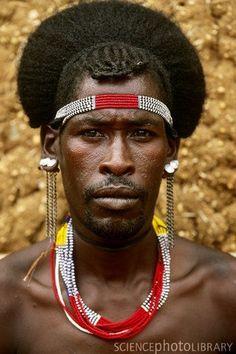 Africa   Hamar man in Turmi, Ethiopia   ©Art Wolfe.