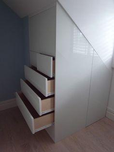 Buil in loft storage - contemporary - bedroom - other metro - Carpenter & Carpenter Ltd