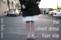 short dress slip tutorial