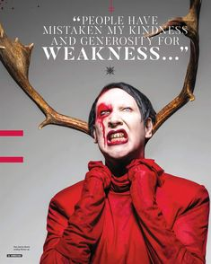 Marilyn Manson photographed by Perou for Kerrang!, 2017