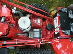 """1964 Gravely L8 walk behind with 30"""" mower deck. Bought by my dad in the late 70's. Restored by my brother. Won Outstanding Restoration Award at the 2012 Gravely Mow-In, Williamsport PA"""