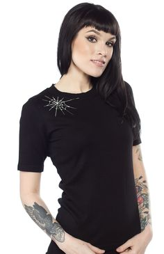OBLONG BOX SHOP PEARL THE SPIDER SWEATER  - Sourpuss Clothing