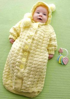 Cozy Baby Bunting - Free Pattern (Crochet For Children)