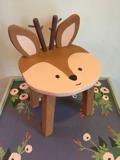 Woodland kids furniture Reindeer Deer hand by TheJollyFoxWorkshop