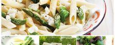 Pasta de macarrones con espárragos, albahaca y queso de cabra | La Bioguía