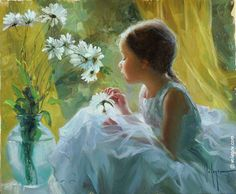 Volegov.com :: Buy Art Poster CONVERSATION WITH A CAMOMILE, painting