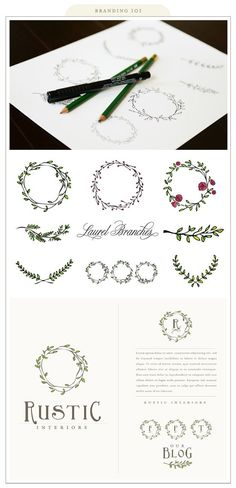 Graphisms , Typography , Infographics and Design - Branding by Silverbox (reminds me of a project I did for school! Webdesign Inspiration, Graphic Design Inspiration, Typography Design, Branding Design, Logo Design, Logo Image, Wreath Drawing, Web Design, Laurel Wreath