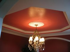 Creative new look for the ceilings and walls of this Knoxville home.  Jeff Brown - CertaPro Painters of Knoxville, TN
