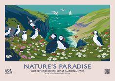 Vintage-inspired images help promote Pembrokeshire coastline - Wales Online