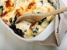 bloemkool met spinazie/ ovenschotel