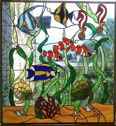 Aquarium Window  1. Faux Stained GlassStained ... ae1c3c8df