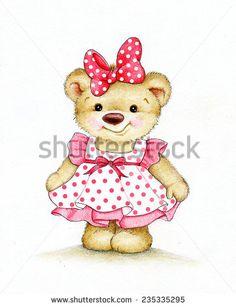 Cute Teddy bear girl