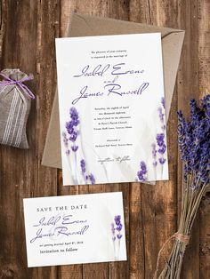 Charming and pretty Lavender Wedding Invitation is available in four trim. Perfect for rustic, garden, outdoor wedding or other feast. Envelope included. Printed on white or cream pearl shimmer paper.  - - - - - - - - - - - - - - - - - - - - - - - - - - THE INVITATION INCLUDES:  ○ Invitation – 5″x7″ – 127x178mm ○ Invitation Envelope – 5″x7″ – 133x184mm   - - - - - - - - - - - - - - - - - - - - - - - - - - PRODUCT DETAILS  ○ Colour - Lavender, Purple ○ Trim - Rectangle, Rounded Edges ○ Paper…