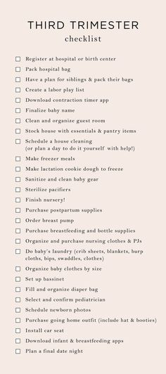 Everything On My Trimester To-Do List - The Mama Notes - Baby prep - Getting Ready For Baby, Preparing For Baby, Before Baby, After Baby, Mama Notes, 3. Trimester, 3rd Trimester Pregnancy, First Trimester, Baby Planning