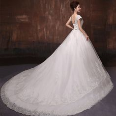 Ya Lei trailing wedding new 2014 autumn and winter large size V-neck lace straps Slim shoulder bridal dresses