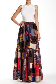 Patch Print Maxi Skirt by TOV on @HauteLook