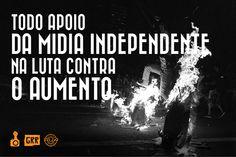 Apoio da Guerrilha GRR, R.U.A Foto Coletivo e Fotógrafos Ativistas.