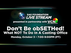 ▶ LifeRaft: Don't be obSETHed! What Not To Do In A Casting Office - YouTube