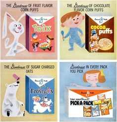 ads for General Mills cereals by unknown artist(s)