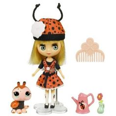NEW Littlest Pet Shop Pet Sitters Blythe - Lady Bug - Character - Ladybug, Character Family - Littlest Pet Shop, Recommended Age Range - Little Pet Shop, Little Pets, Lps Littlest Pet Shop, Palace Pets, Barbie Party, Toys Online, Doll Stands, Doll Accessories, Art