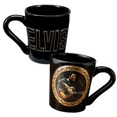 This commemorative Elvis Presley 1968 Special Ceramic Sculpted Mug is in honor of Elvis' Comeback Special tour.