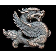 Chinese Dragon Belt Buckle - Dragon, Fantasy, and Mythical - Buckles   BeltBuckle.com