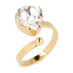 Otazu Hearts Gold-plated Ring ($67) ❤ liked on Polyvore featuring jewelry, rings, gold, gold plated jewellery, heart ring, wrap rings, gold plated jewelry and otazu