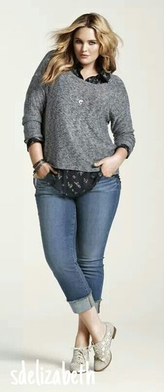 Jeans + camisa con tricot