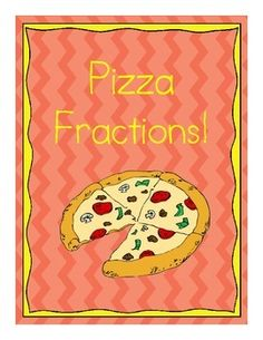Pizza Fractions - Complete Activity Set (1st, 2nd, or 3rd grade) - kids color, cut, and paste to create a pizza, then identify the fractions they have represented with the toppings.  Easy to differentiate for leveled groups!