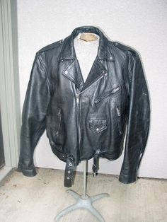 Mens Vintage Black Leather Motorcycle by VintageClassicWares, $95.00