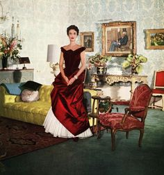 Babe Paley in Charles James Ball Gown, 1950 Courtesy of The Metropolitan Museum of Art, Photograph by John Rawlings, Rawlings / Vogue / Con...