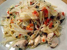 Cocina a lo Boricua: Fettuccine con pescado o camarones y hiervas