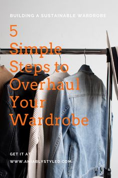 Use code 5DWOPIN for 50% off! How to overhaul your wardrobe in just 5 days without breaking your budget! In this eBook you'll find a quick guide to the basics of defining your personal style so that you can create a curated wardrobe that you love and works with your lifestyle. No need to spend a ton of time, energy, and money just to achieve your ideal wardrobe. 5 lessons over 5 days full of wardrobe overhaul ideas. Let's get started! #wardrobeoverhaul #capsulewardrobe #outfitideas Edgy Style, Classy Style, Preppy Style, Ethical Fashion Brands, Slow Fashion, Fashion Tips, Minimalist Wardrobe, Summer Aesthetic, Fashion Group