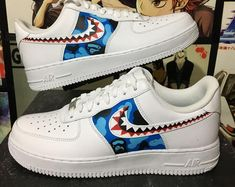 new style 68fc3 365a4 Personnalisé Nike Air Force one courage le chien froussard   Etsy Sneakers  Wallpaper, Custom Sneakers