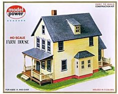 Farm House Kit HO (mdp433) Model-Power HO Scale Model Railroad Buildings