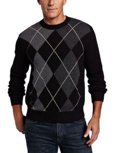 Dockers Men's Exploded Argyle Crew Sweater for $24 on amazon