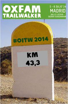 Aproximadamente la mitad de equipos han pasado el Km 43,3, es decir el puerto d Morcuera #OITW  Casi mitad d camino!!