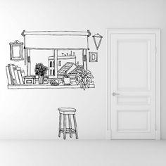 "Wall sticker ""Coffee window"""