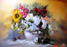 Floral Oil Paintings by Széchenyi Szidónia - Fine Art Blogger