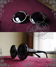 82c4904522e Fanplusfriend New Romantic Vintage Classic Retro Round Circle Sunglasses in  Smoke Black Circle Sunglasses