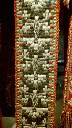 faja de mujer mapuche a telar museo precolombino chile