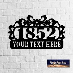 Golden  Retriever Address sign Numbers Steel art elegant street sign home House