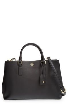 Luggage Tan Tory Burch 'Robinson' Double Zip Tote available at #Nordstrom